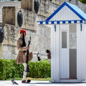 Evzones: The Greek Presidential Guard in Athens with Kids