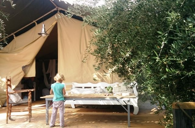 our canvas lodge during our family experiencesblog holiday