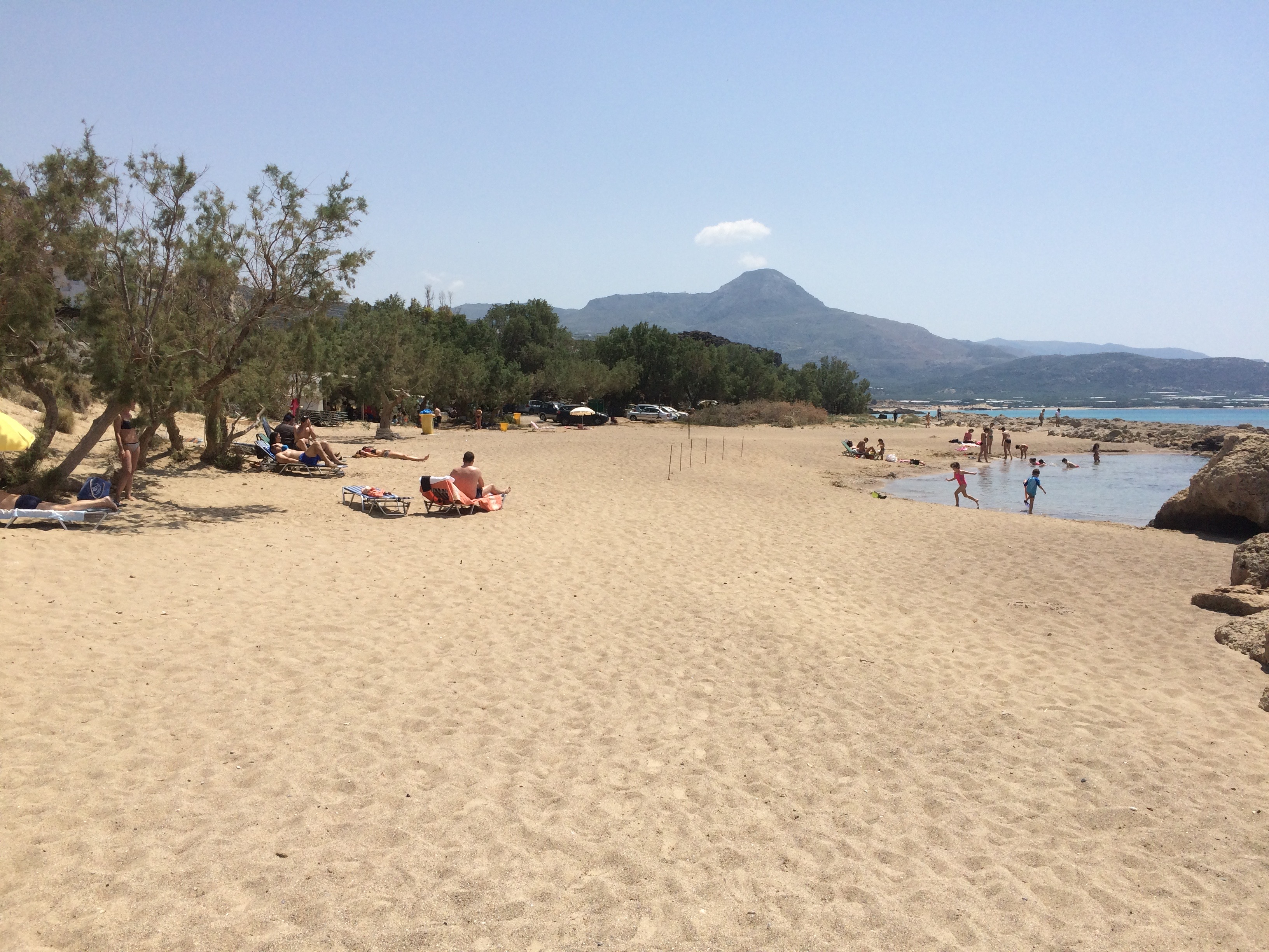 As you are approaching Falasarna beach the panoramic view will take your  breath c6783ed0a6b