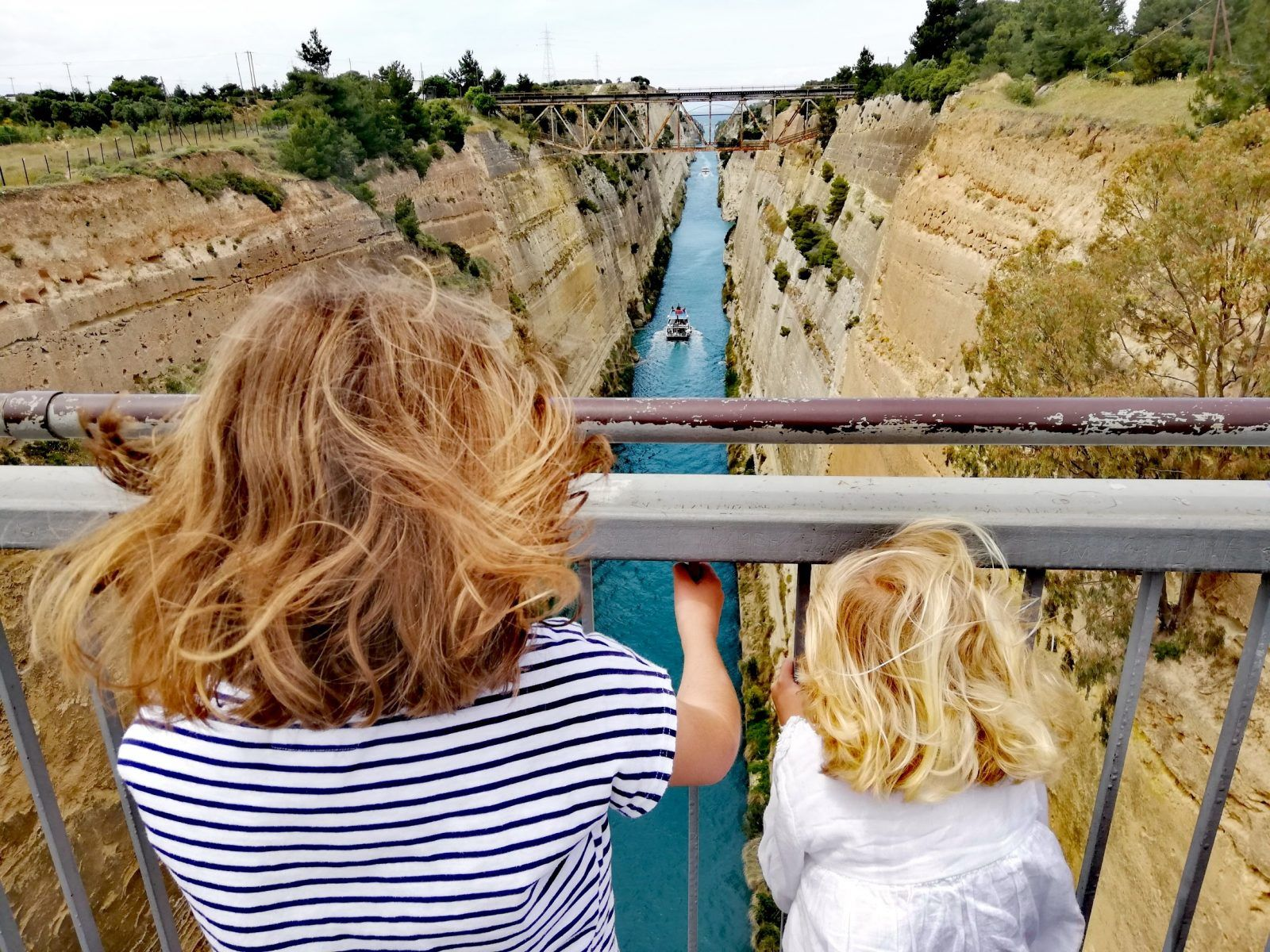 family experiences blog corinth canal travel greece with kids